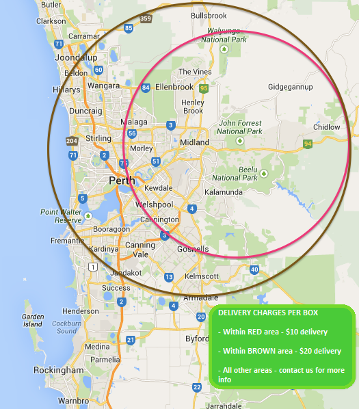 Delivery date in Perth
